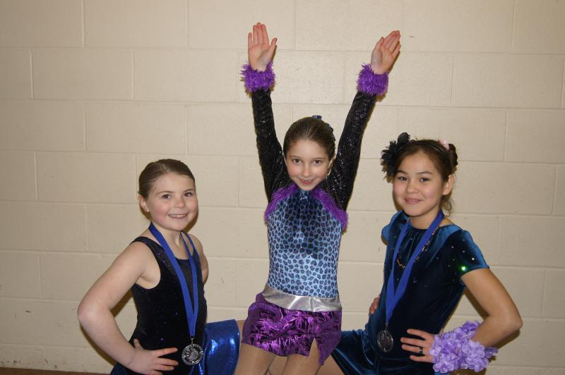 Maya, Tristin and Payton at the Kitimat Jamboree